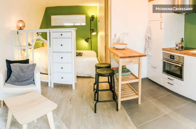 appartement meubl louer nantes le studio des olivettes. Black Bedroom Furniture Sets. Home Design Ideas
