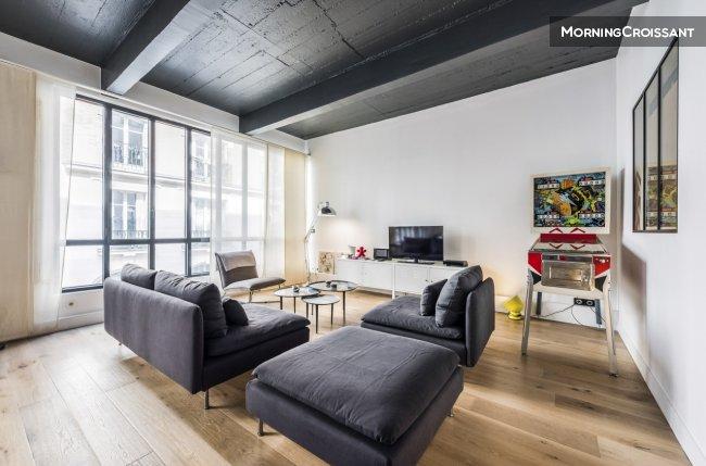Appartement meubl louer paris esprit loft pour 4 for Appartement meuble location paris