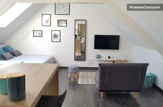 studio meubl louer lorient studio cosy proche centre. Black Bedroom Furniture Sets. Home Design Ideas