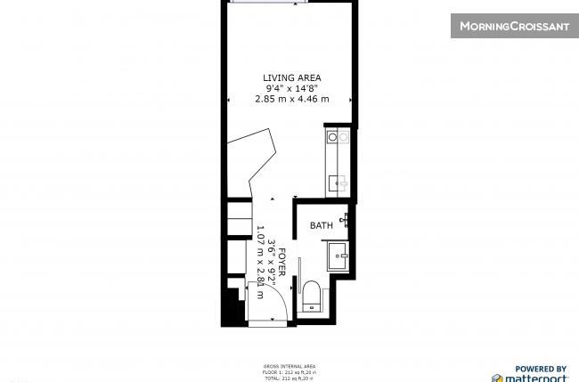 studio meubl louer villejuif studio loc au mois. Black Bedroom Furniture Sets. Home Design Ideas